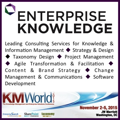 Enterprise Knowledge, KMWorld, Knowledge Management, Information Management, KM Consulting