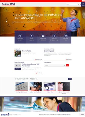 Sodexo LINK Homepage