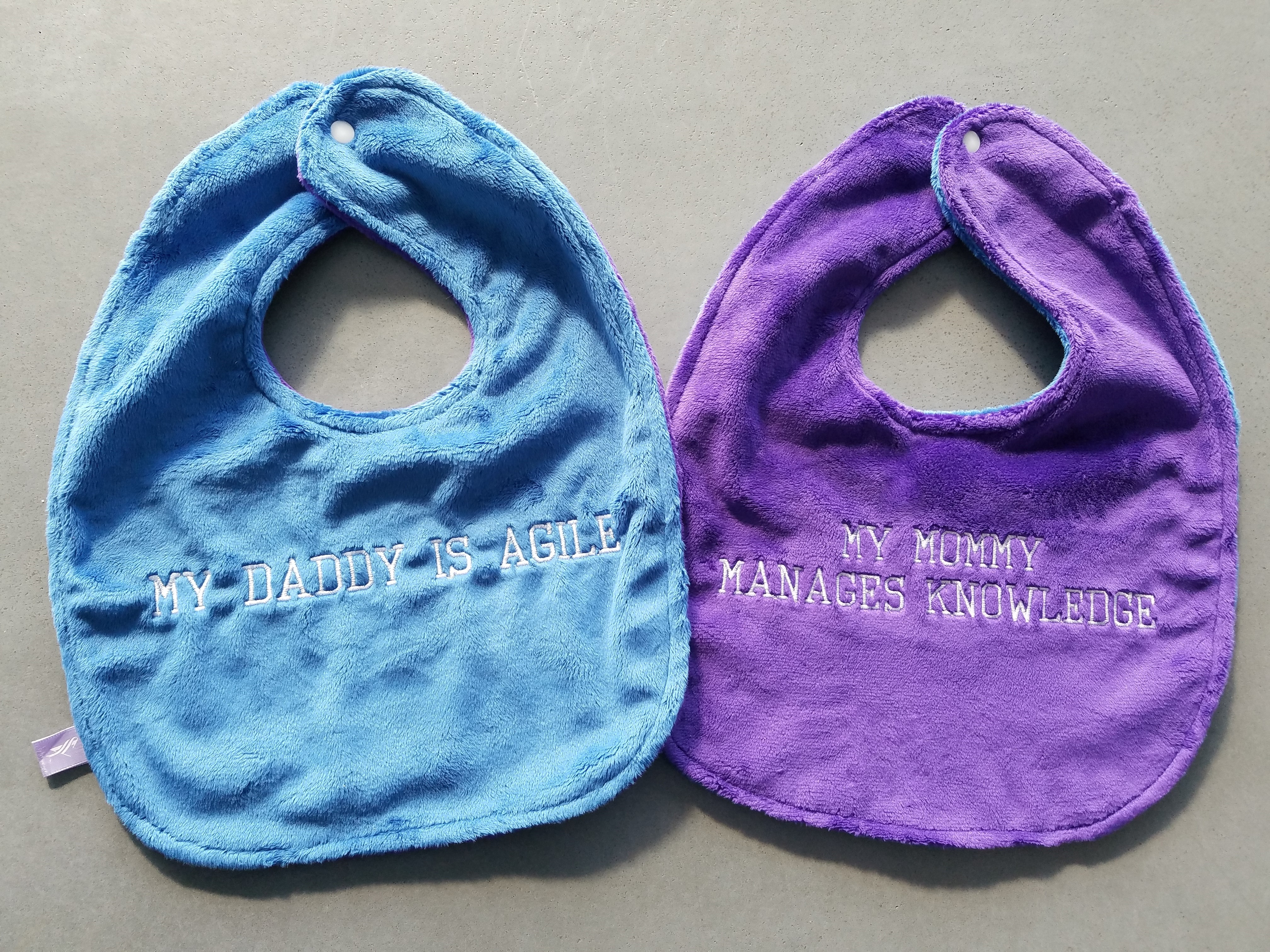 Agile and Knowledge Management Baby Bibs