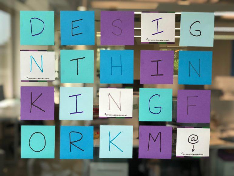 sticky notes design thinking