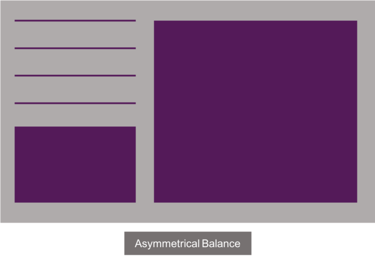 An example of asymmetrical balance