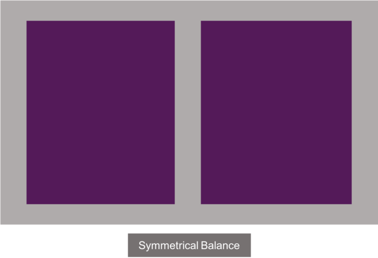 An example of symmetrical balance
