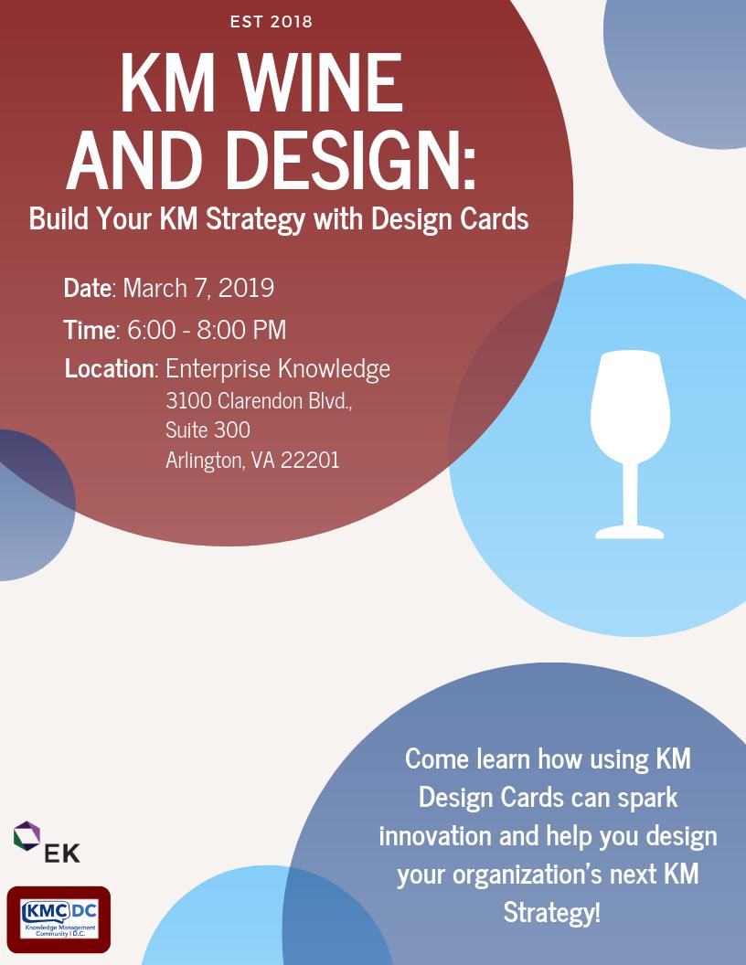KM Wine and Design Flyer