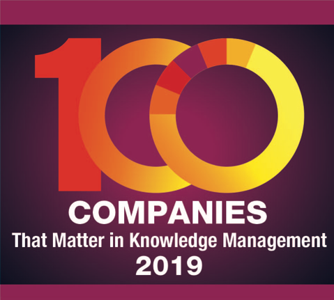 Top 100 Companies that matter in KM logo for 2019
