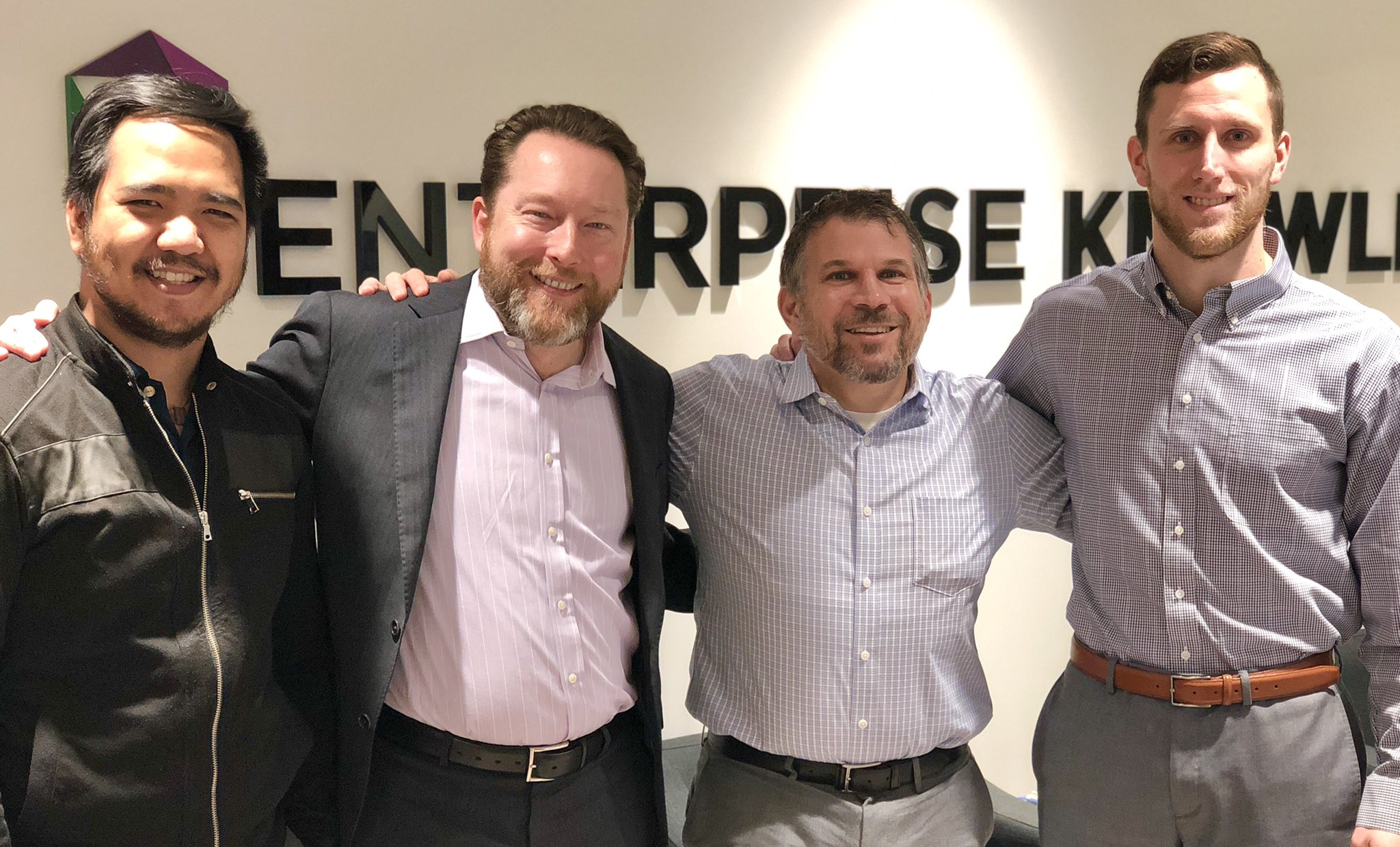 Four EK Employees who participated in No Shave November.