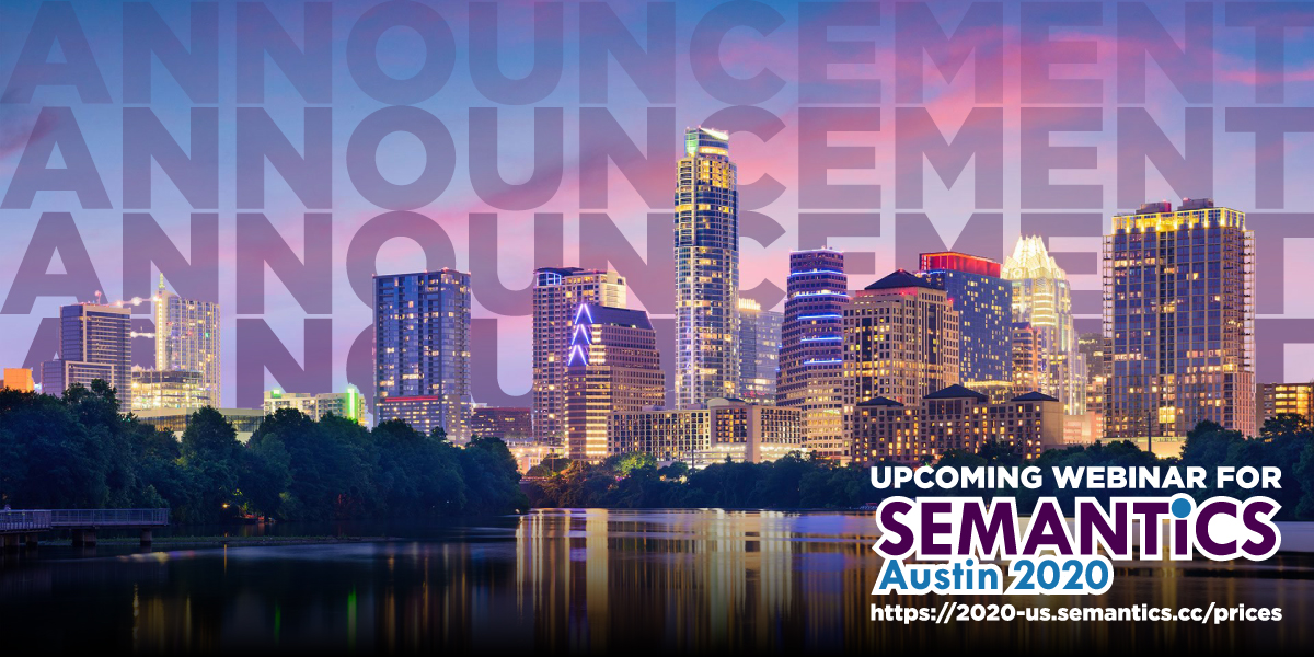 Austin skyline with SEMANTiCS webinar logo