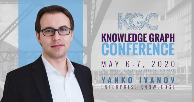 A photo of speaker Yanko Ivanov alongside the name and dates of the conference
