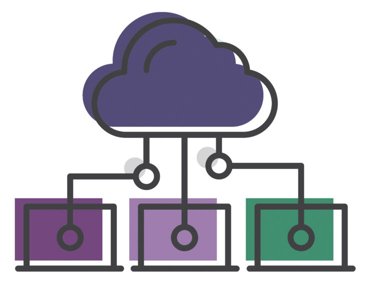 cloud with boxes below